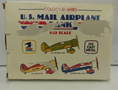 1991 NEW Die Cast Vintage Airplane Bank 1/32 US Mail #102 Rare