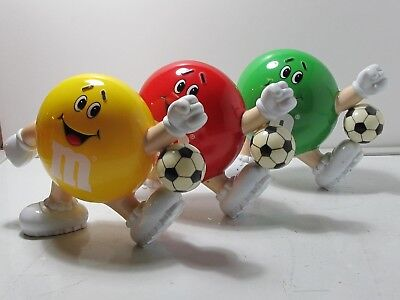 Lot of 3 Rare Collectible 1991 M&M Candy Dispensers