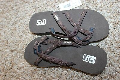 aa442aa47 NWT TEVA OLOWAHU Brown Strappy Flip Flop Sandals Mush Brown 5 ...