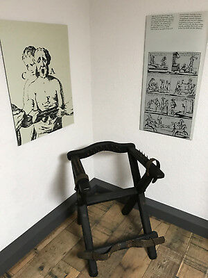 RARE Torture Chair, Punishment, Witch Persecution, Inquisition, no sword
