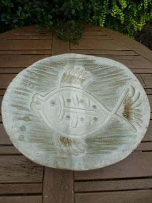 Studio Pottery Fish Design Charger Signed