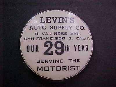 """CELLULOID WHETSTONE-""""Levin's Auto Supply Co.""""-San Fransisco, Ca.-Early"""