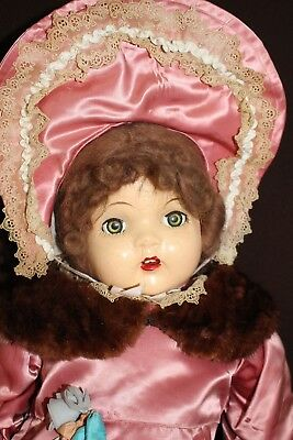 """Large PLAYTHING 28"""" Composition Baby Doll, Cloth Body, Rubber Arms & Legs *LOOK"""