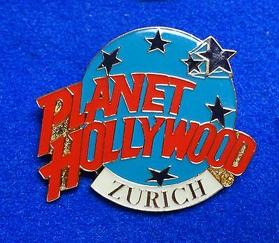 Zurich Switzerland Europe Planet Hollywood Blue Planet Stars Logo PH Lapel Pin z