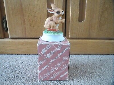 San Franciso Music Box Company Peter Cottontail/Rabbit/Easter Figurine