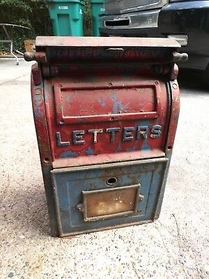Antique 1941 Carlisle Foundry Co Pa. Cast Iron Us Post Office Letter Mailbox