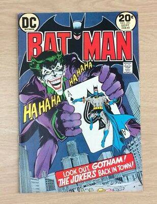 Batman 251 Neal Adams Dc Comics Legendary Joker Issue! O'Neil