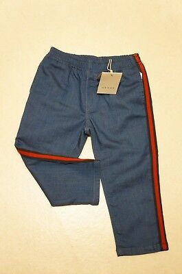 GUCCI Boys Blue stripe Jogger Jeans