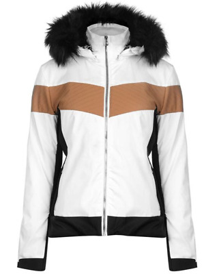 Nevica Banff Ladies Ski Jacket Womens Winter Coat Fur Trim Hood Uk 12 Rrp £299