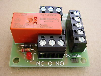 12v ac/dc Handy little Relay board ideal for security Systems