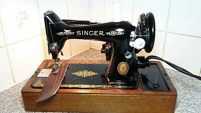 Vintage Electric Singer Sewing Machine Model 99K, beautiful ,Recently serviced