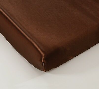 """EliteHomeProducts Super Soft & Silky Satin Crib Fitted Sheet (30"""" X 55"""") +10"""""""