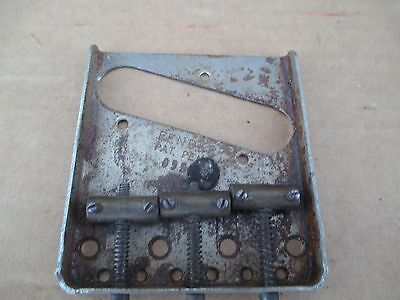 1952 Fender Telecaster Usa Pat Pend Guitar Bridge