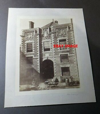 Cheshire CHESTER c1860 Building destroyed by fire 1862 - Original Albumen Photo