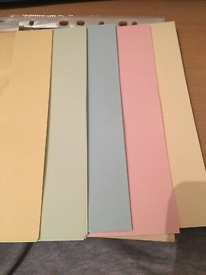100Sheets A4 80gsm Coloured Paper PASTEL MIX Soft colours - Ideal for art crafts