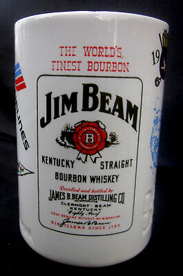 1975 Jim Beam Bottle Club Mug 100th Kentucky Derby United Airlines Bob Hope Golf