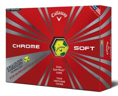Callaway Chrome Soft Truvis 1 Dozen Golf Balls - Yellow/aust - Value Plus!