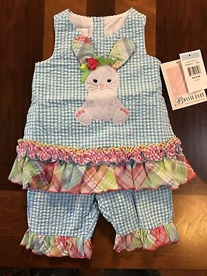Bonnie Baby Girls Easter Bunny Outfit/Size 3-6 Months NWT