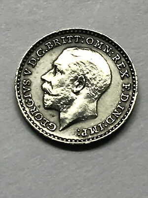 1913 England Maundy 1 Penny Silver Unc #9391