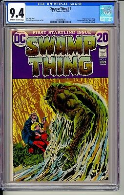 SWAMP THING #1 CGC 9.4 OWW  DC Comics 1972 Wrightson art (House of Secrets 92)