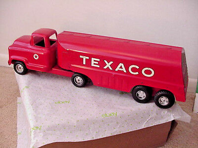 Vintage BUDDY L TEXACO 1950's pressed steel tanker truck excellent condition
