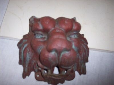 Antique Mideival cast iron head came off old demolished tall building