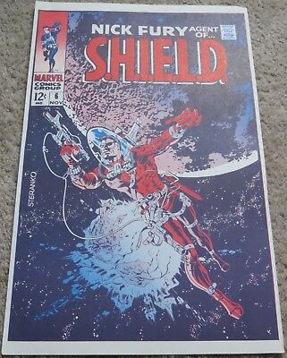 Comic Book Cover Poster - Nick Fury, Agent of S.H.I.E.L.D. Issue #6