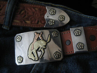 MAGNIFICENT HOLLANDS Harry Hudson 2 MOONS Sterling 14K Buckle - 2 COLORS OF GOLD