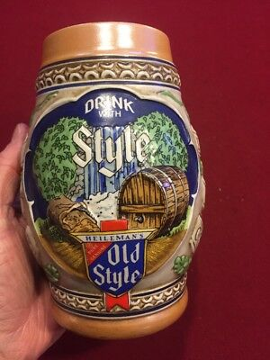 Vintage Old style beer Stein limited edition 1983 Numbered 37954,look!