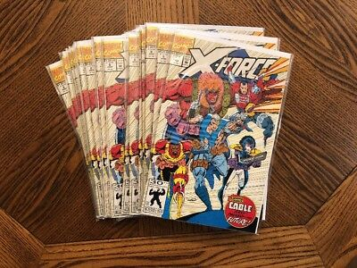 X-Force #8 (1992) Marvel 1st App Domino in Flashback 1st Origin of Cable NM+