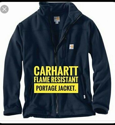 $260 Carhartt flame resistant Portage Jacket BRAND NEW  Spring casual work shirt