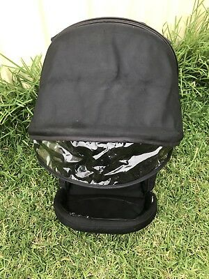 Black Hood In For Strider Compact Or Plus Pram. Spare Part