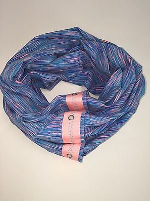 Ivivva Village Chill Scarf Space Dye Blue Pink NWOT