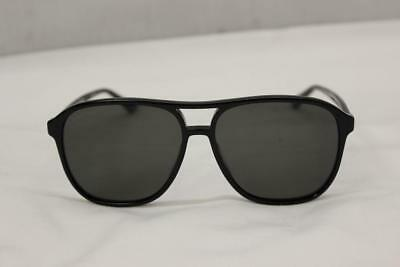 Gucci GG0016S 006 Black Aviator Style Polarized Sunglasses Made In Italy