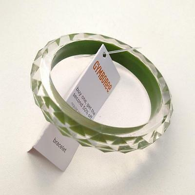 New Gymboree Girls Batik Summer Sparkle Green Bangle Bracelet Accessory