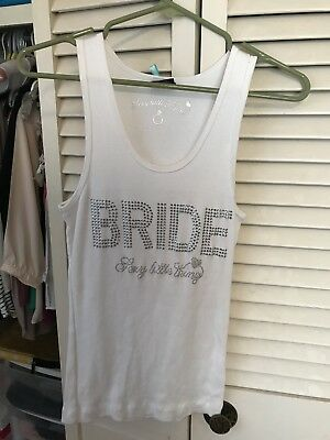 Victoria's Secret Tank Top Bling Medium White Nwot Sexy Little Things. Bride