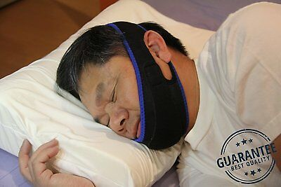 Sleep & Wellness New PREMIUM Double Adjustable Anti Snoring Chin Strap REM Sleep