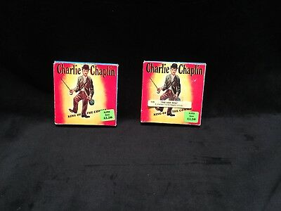 """Charlie Chaplin """"The Hot Dog"""" And """" Charlies Good Deed""""8 mm Film Stock 2 Films"""