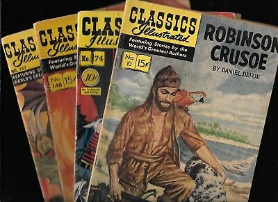 Classics Illustrated #10 74 148 167 HRN 164 75 163 167 Midshipman Easy Faust GD