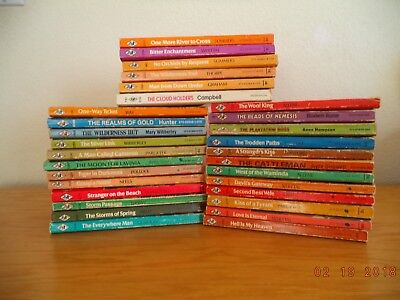 Lot of 30 vintage Harlequin  Romance books good condition variety of authors