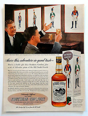 Vintage 1954 Southern Comfort Old South Guard advertisement print ad art