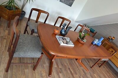 D-Scan Danish Design RETRO Mid-Century Teak DINING TABLE [60s Parker Fler Era]