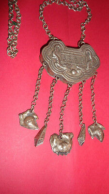 Gorgeous Antique Vintage Chinese Silver pendant Necklace