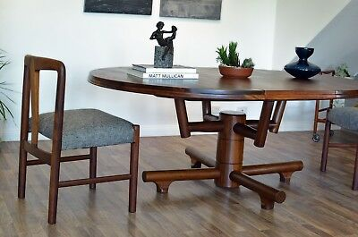 RARE ARTECASA Mid-Century RETRO DINING TABLE Solid Teak [Atomic Space Age]