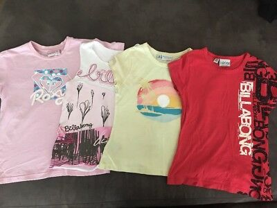 Girls Size 8 T-shirts- Billabong & Roxy