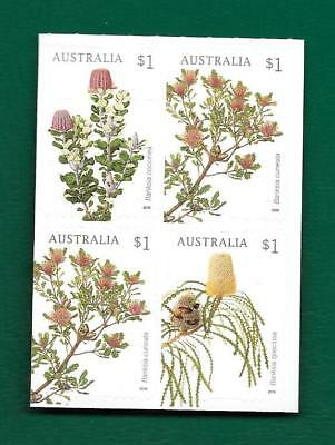 """2018 Australian """" Banksias """" ~ Block Of 4 From Booklet ~ Mint Un Hinged"""