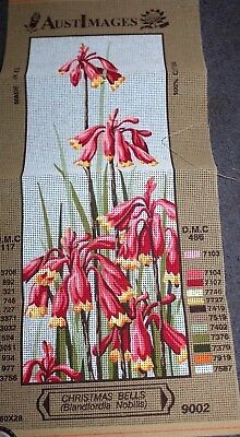 NEW TAPESTRY CANVAS - FLOWERS  Christmas Bells 60cm x 28cm