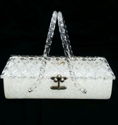 Lucite confetti hand bag by Florida Handbags made in Miami 1960's Vintage Beauty