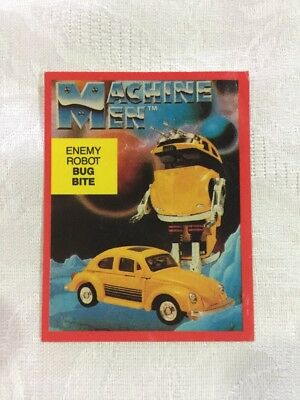 1980s GO BOTS MACHINE MEN BUG BITE VW AUSSIE HANIMEX CAMERA CEREAL STICKER