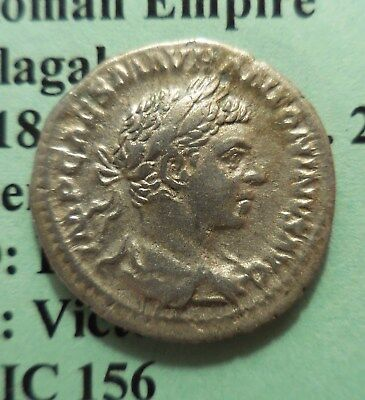 Elagabalus. AD 218-222. AR Denarius Laureate, draped, and cuirassed bust right /